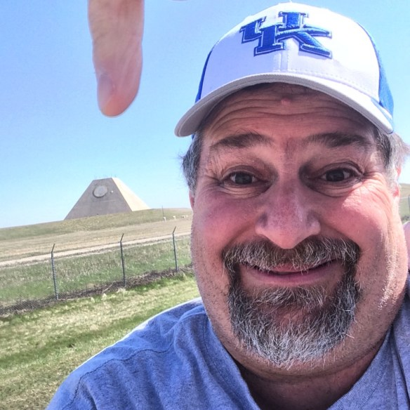 Visiting the giant pyramid in Nekoma, ND in May 2014