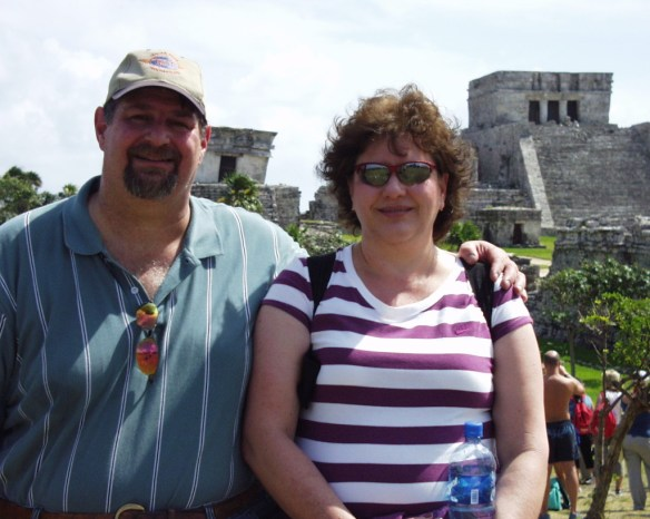 David and Julianne in Tulum, Mexico