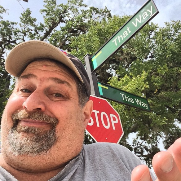At the corner of This Way and That Way in Lake Jackson, Texas - June 2014