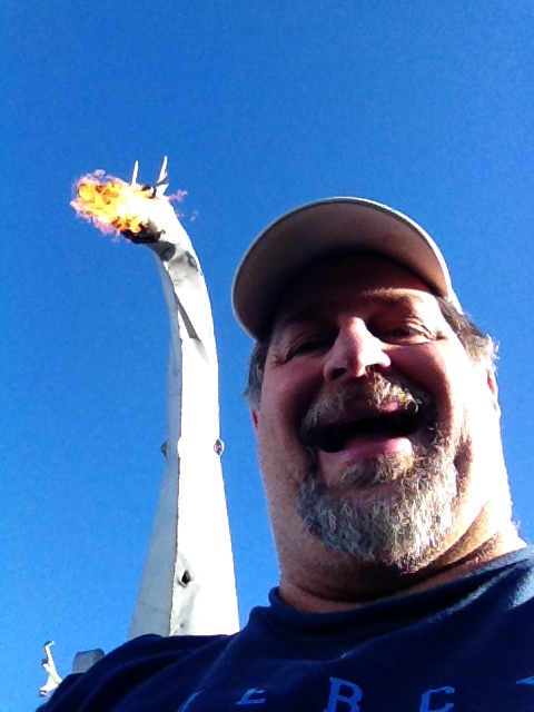 Under a Fire-breathing Dragon in Vandalia, IL in September 2013