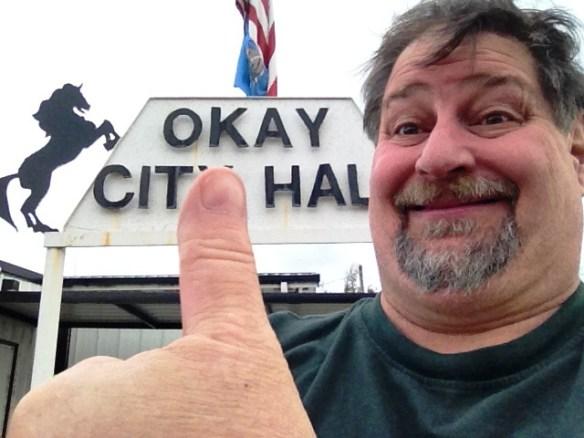 I meandered into Okay, Oklahoma in November 2012