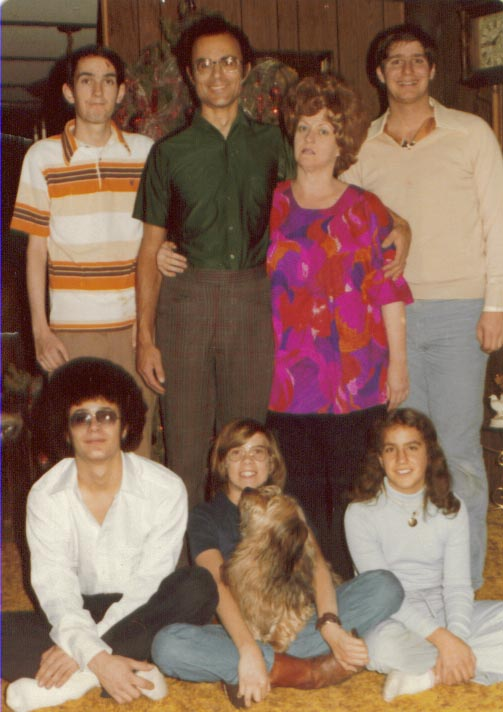 The family together in 1978 after my mission.  This was the only family photo we ever had together.