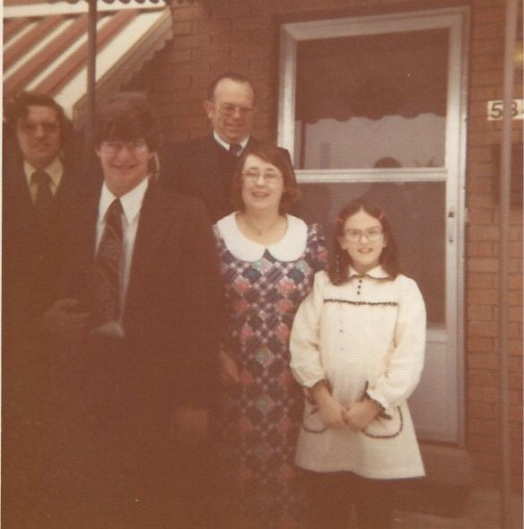 With the Thomas Family and a friend in Feb. 1976