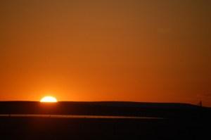 Sunrise in Montana - US 89 east of Great Falls, MT