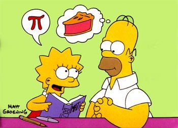 Pi Day Simpsons