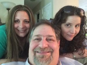 Hanging with two of my daughters who are mothers in their own right! Marissa (L) and Chelsea (R)