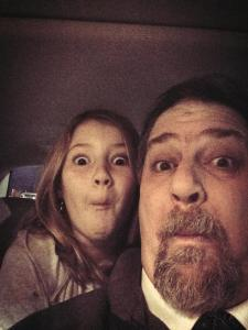 Making faces with my 10 year old Autumn, back in 2014