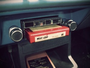 An 8 track player in Car