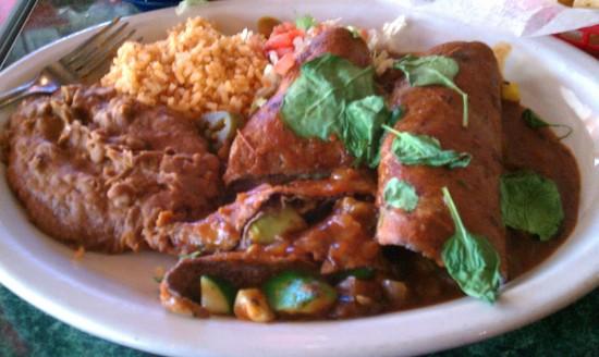 Chuy's Veggie Enchiladas