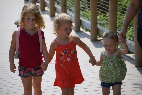 At the Cincinnati Zoo with her cousin Autumn and her cousin Savannah (my sister Sherry's daughter) in August 2009