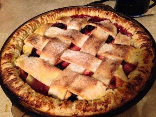 Chelsea's famed Googleberry Pie (actually using an old family recipe from my wife's family)