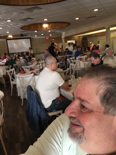 Enjoying buffet at Copper Roux