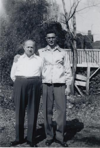 Joe Kravetz with his father Alexander in the early 1950s