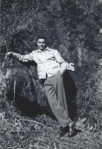 Joe in the 1950s doing what he liked best...hiking
