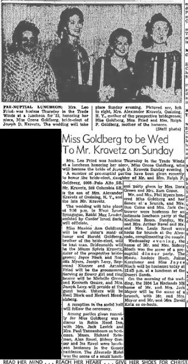 Newspaper clipping announcing the wedding of Orene and Joe (Albuquerque Journal 19 Dec 1958)