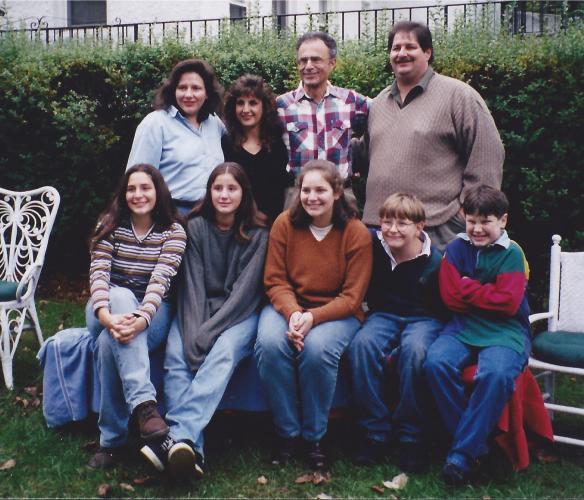 Joe with family in 1997 in Tarrytown, NY