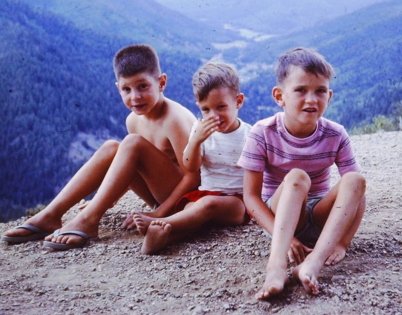 With my brothers Danny and Aaron. I am assuming this was at Sandia overlook near Albuquerque in 1963 or 1964