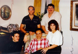 Joe with my siblings Aaron, Gary and Sherry in the 1990s