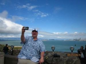 Taking a selfie in San Francisco