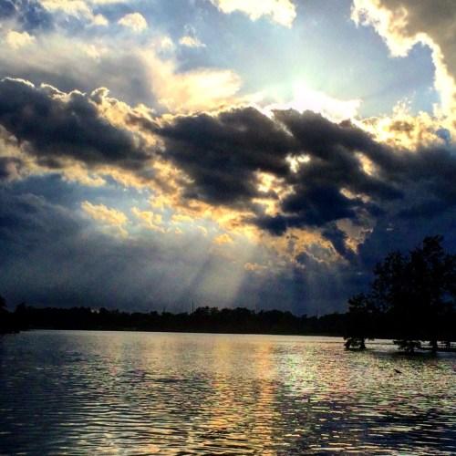 Sunburst over Jacobson Lake