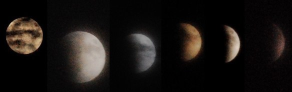 A time lapse of Lunar Eclipse in November