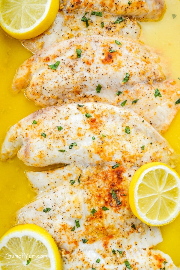 Lemon Garlic Baked Tilapia