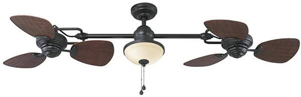 Harbor Breeze Twin Breeze Ii Oil-rubbed Bronze Outdoor Downrod Ceiling Fan