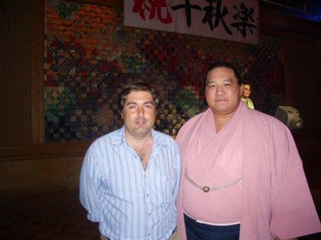 Con el Ozeki Kaio en Septiembre de 2006