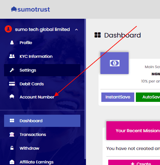 sumotrust kick account number