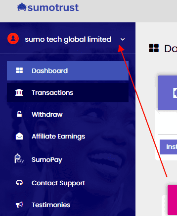 sumotrust menu page