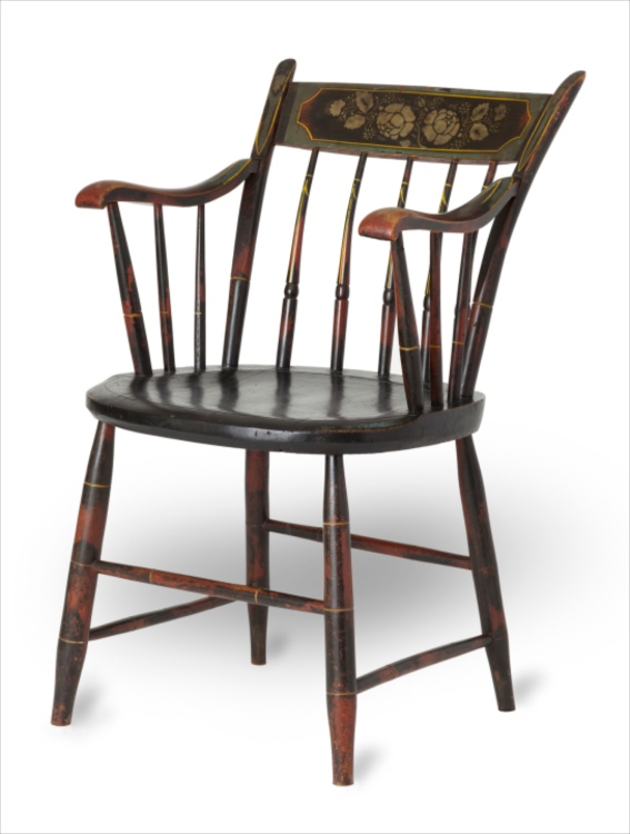 Fancy Painted Windsor Arm Chair  sc 1 st  Sumpter Priddy III Inc. & Fancy Painted Windsor Arm Chair   Sumpter Priddy III Inc.