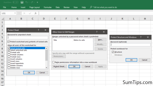 how to protect excel 2013 sheet from editing