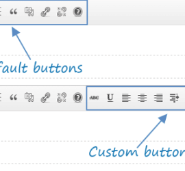 Wordpress Distraction Free Writing Buttons
