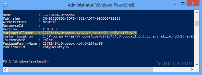 Uninstall Modern UI App with PowerShell