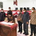 Bupati dan DPRD Karo Tandatangani Tiga Perda