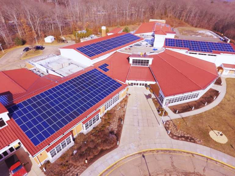 Commercial Solar 650 or 850 panel install in Trumbal CT-Sun-Wind Solutions