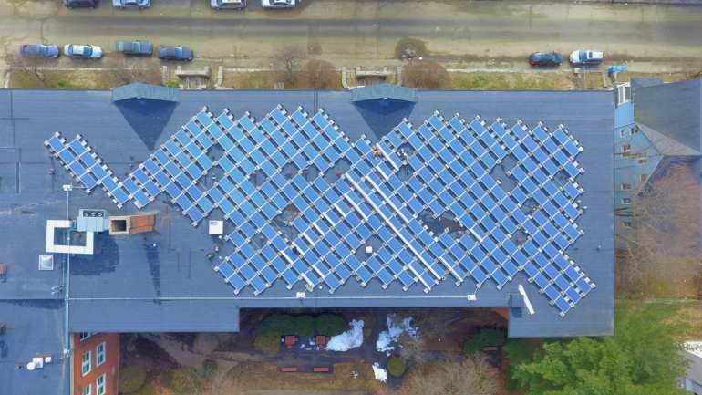 Commercial Solar panel removal and re-installation for roof replacement Waterbury CT-Sun-Wind Solutions