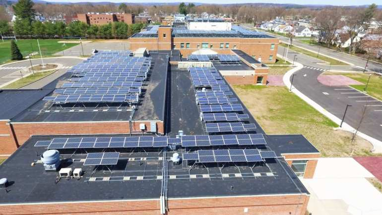Commercial Solar Operations and Maintenance O&M 700 panel Plainville CT-Sun-Wind Solutions