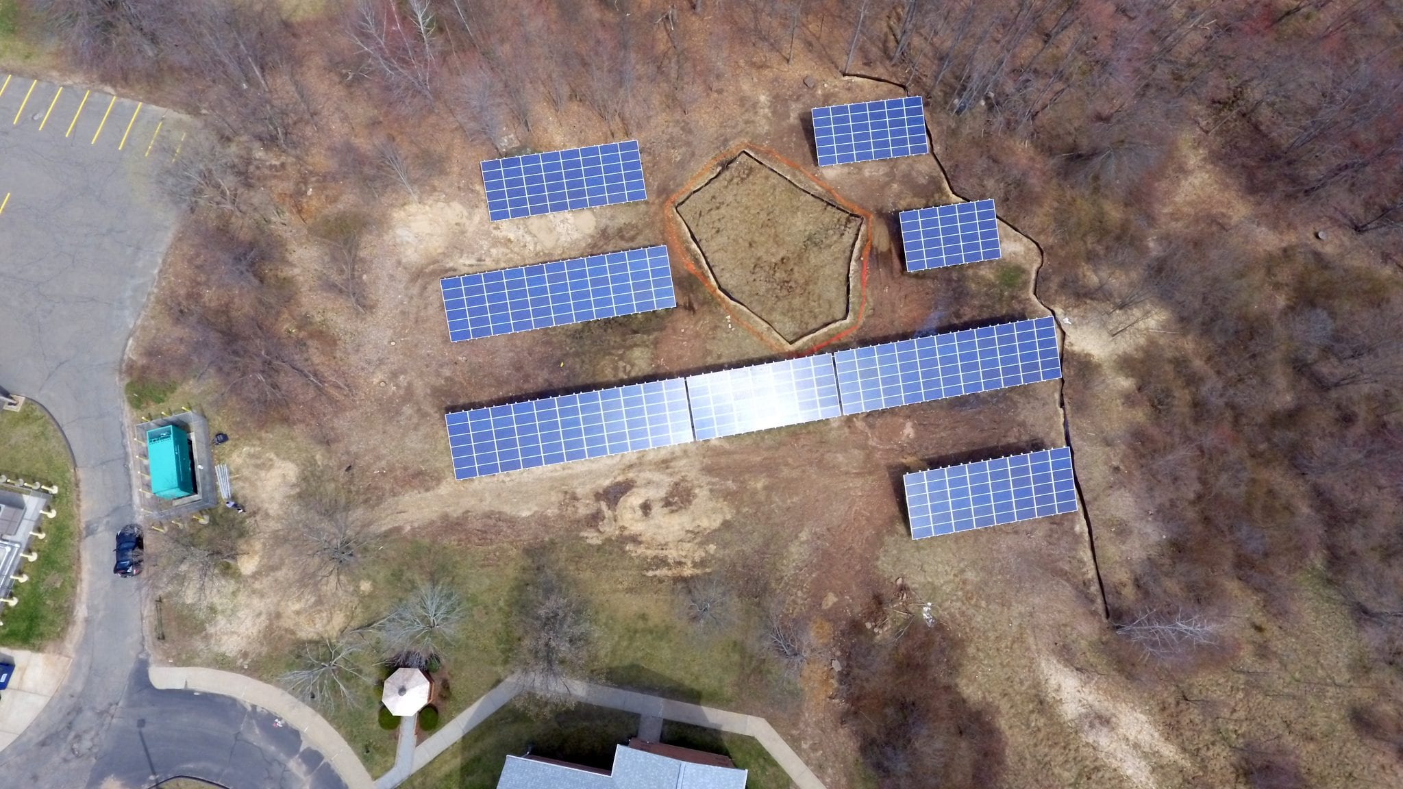 Commercial Solar 400 Panel Ground Mount in Bristol CT-Sun-Wind Solutions