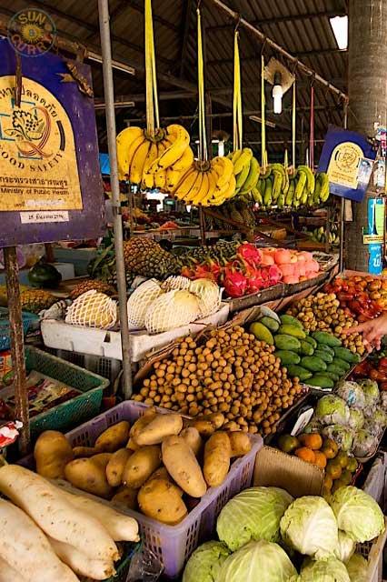 Ko Samui Markt Obst Gemuese
