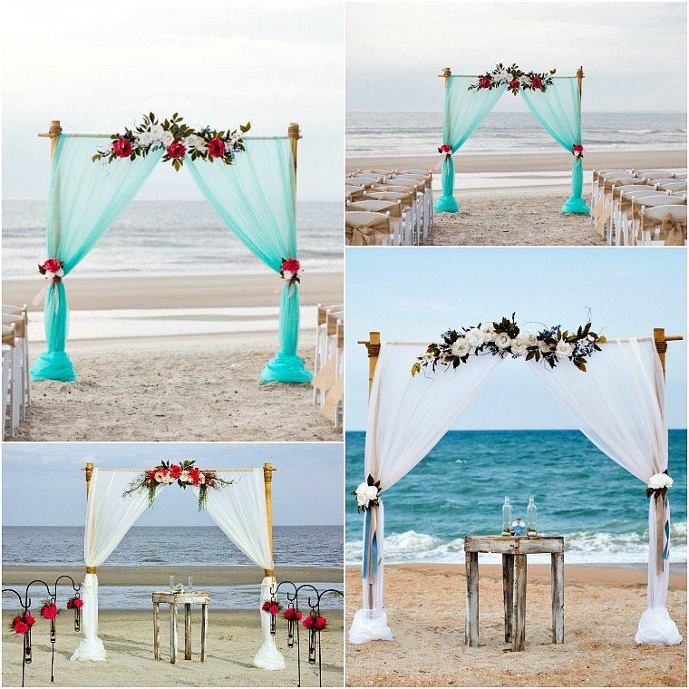 2 Post Bamboo Arbor Sun Amp Sea Beach Weddings