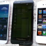 The Blackberry Z10 in an Apple and Android household