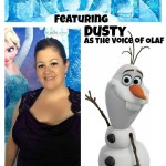 My debut as the voice of a Disney Frozen character! #DisneyFrozenEvent