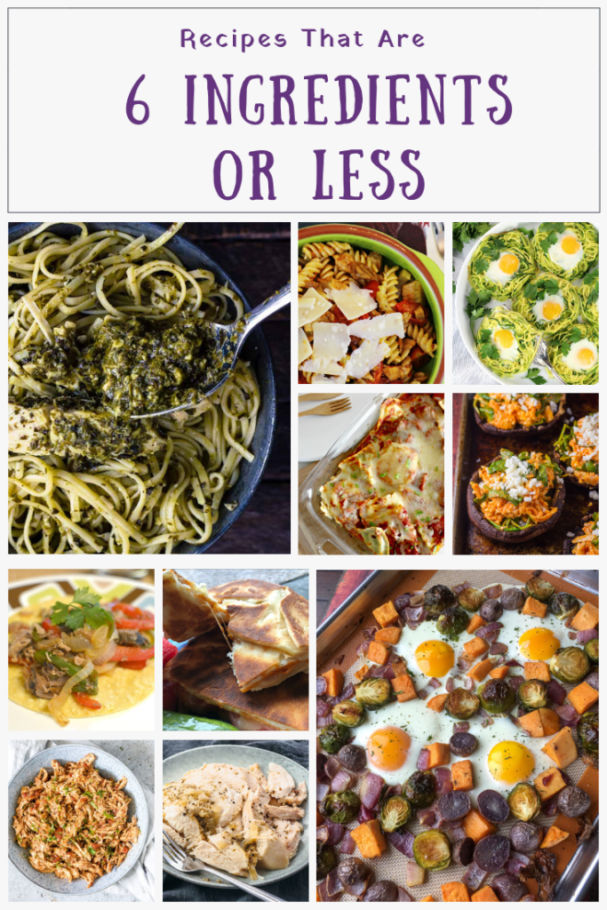 Meals with 7 ingredients or less