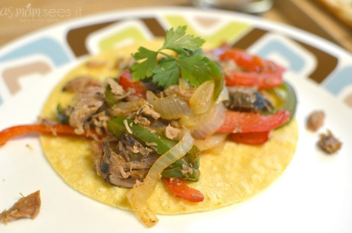 Flame Seared Carnitas Fajitas recipe with 7 ingredients or less