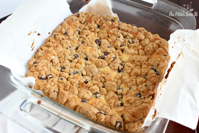 These Chocolate Chip Cheesecake Squares are one of our most popular recipes!