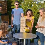 A New Version Of A Classic Toy A Giant Hit At Our Party: Jenga Giant