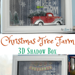 How To Make A Christmas Tree Farm Shadow Box