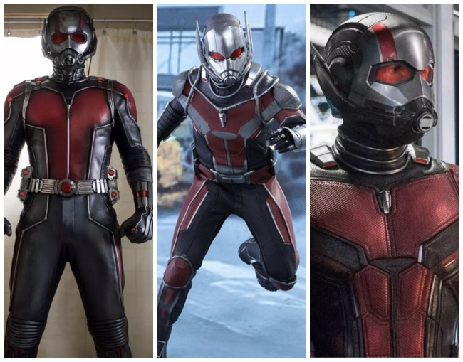 How Ant-Man's costumes have changed from Ant-Man to Civil War to Ant-Man and the Wasp