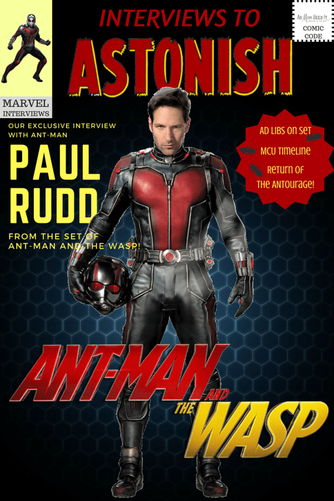 Ant-Man and the Wasp set interview with Paul Rudd